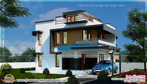 February 2014 kerala home design and floor plans for 2000 sq ft to yards