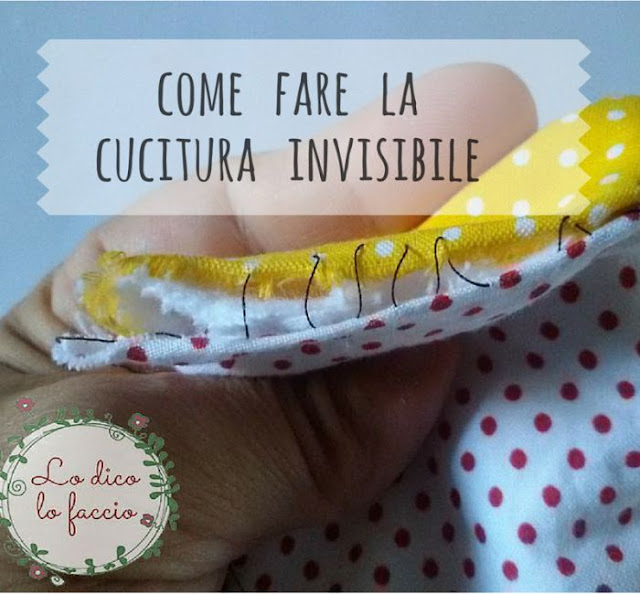 come fare cucitura invisibile o punto nascosto