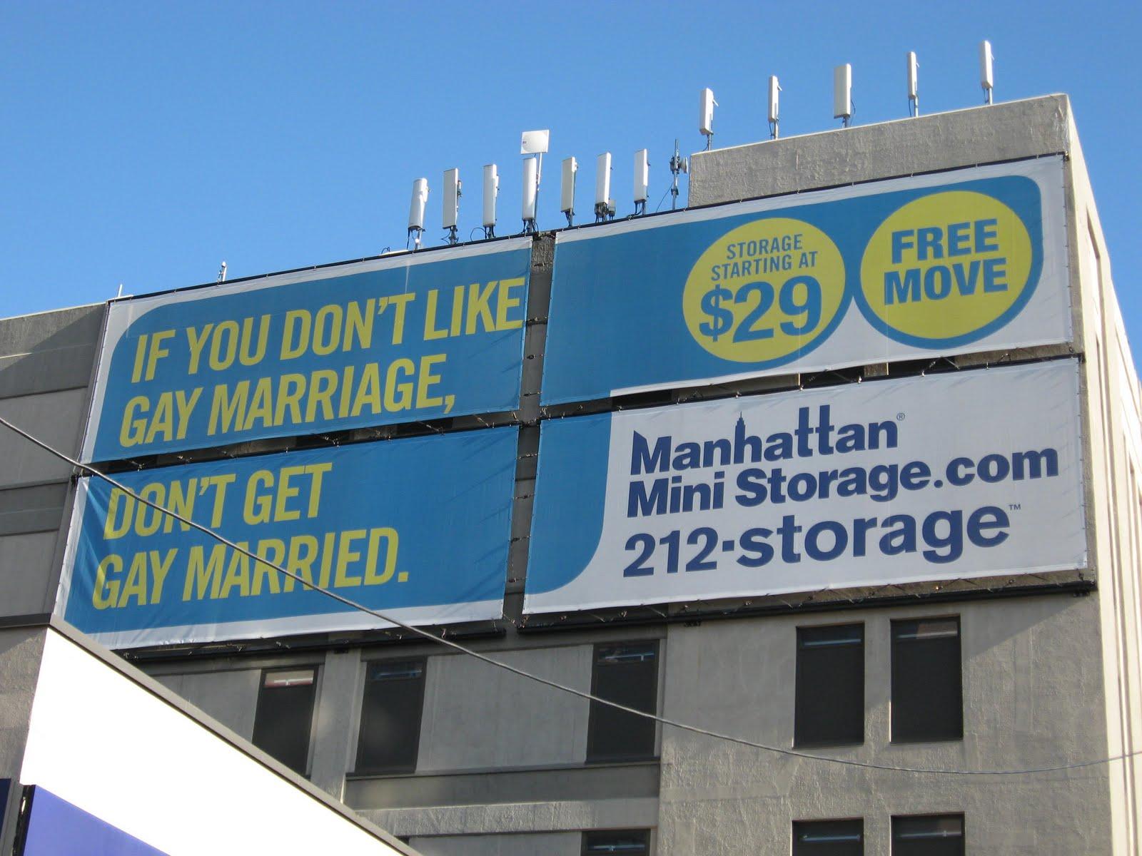 Urban Infidel Manhattan Mini Storage Loves Gay Marriage