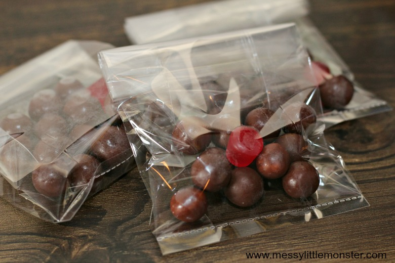 Reindeer Noses Christmas Treat Bags - Messy Little Monster