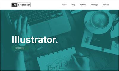 The Freelancer шаблоны для blogger 2018 - скачать бесплатно