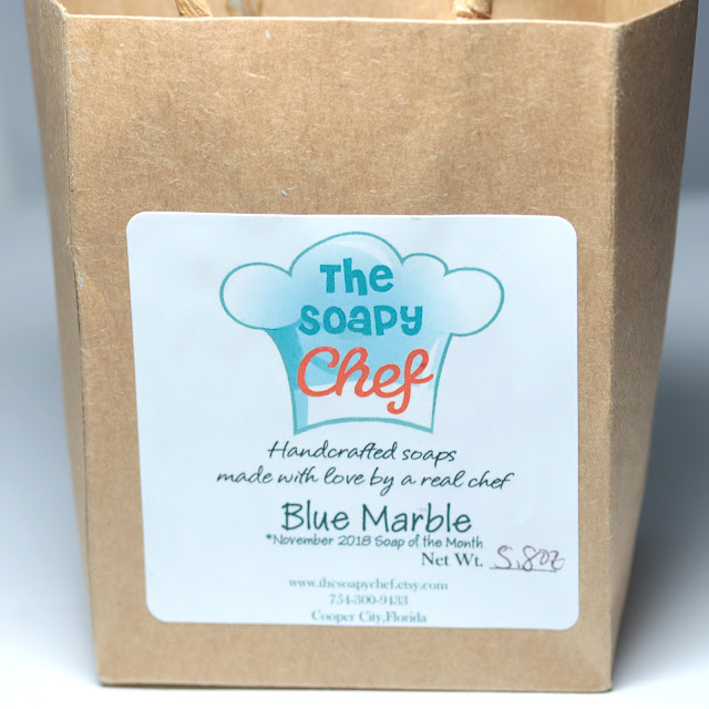The Soapy Chef Blue Marble Soap