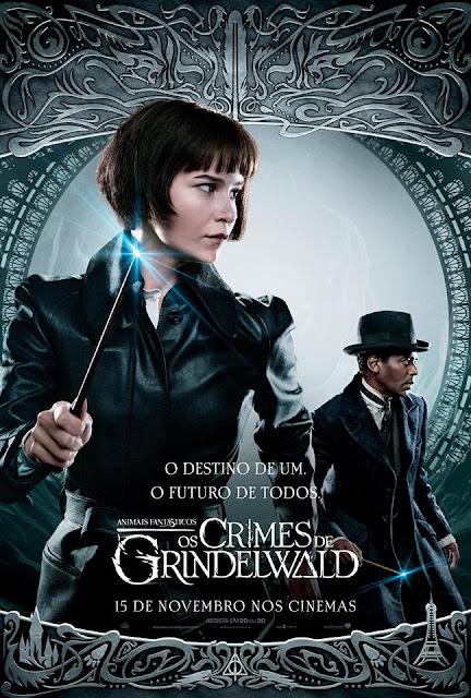 Os pôsteres nacionais dos personagens de 'Os Crimes de Grindelwald' | Tina Goldstein e Yusuf Kama | Ordem da Fênix Brasileira