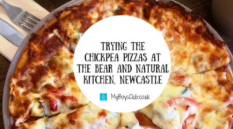 Chickpea Pizzas at the Bear and Natural Kitchen, Newcastle
