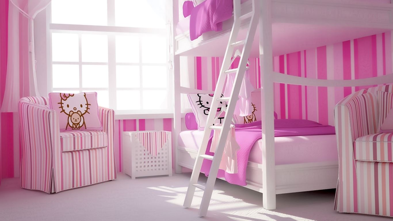 Paint Color Child Girls Bedroom HD