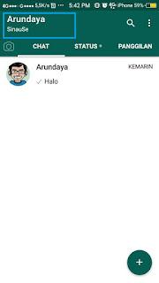 Mengubah Logo Tulisan Whatsapp dengan Nama Kita