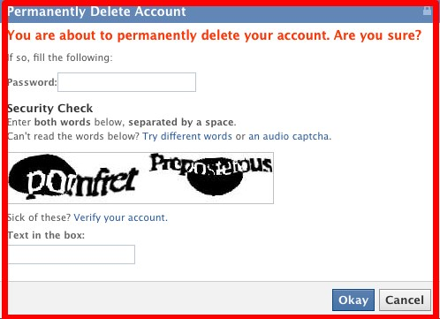 easy way to delete your facebook account