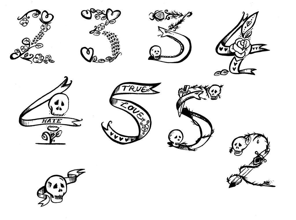 Number 3 Tattoo Ideas: ART And TATTOO: Numbers