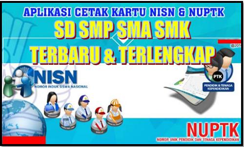 Aplikasi Kartu NUPTK dan NRG Plus NISN Terbaru dan Terlengkap