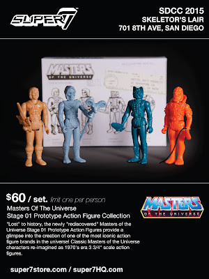 San Diego Comic-Con 2015 Exclusive Masters of the Universe Stage 01 Prototype Action Figure Collection by Super7