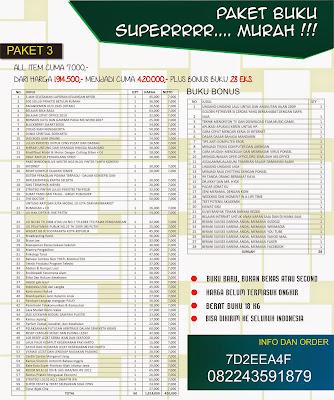 Paket 3 : Buku Murah All Item Rp. 7.000,- !