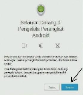 menu android melacaak hp android yang hilang