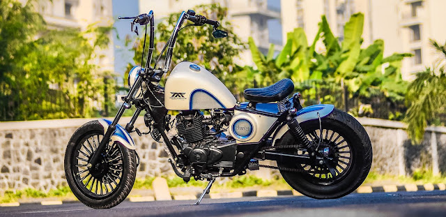Maratha Motorcycles Softtail Bobber modified bajaj avenger