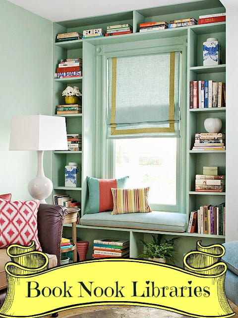 Home Improvement & Interior Design: Book Nook Libraries with Window Seats
