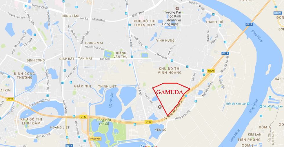 Vị trí dự án Gamuda Gardens.