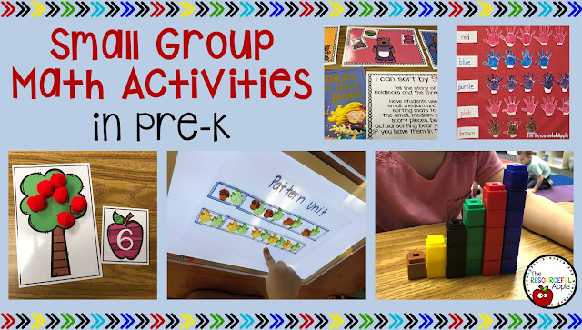 Small Group Math Activities in Pre-K