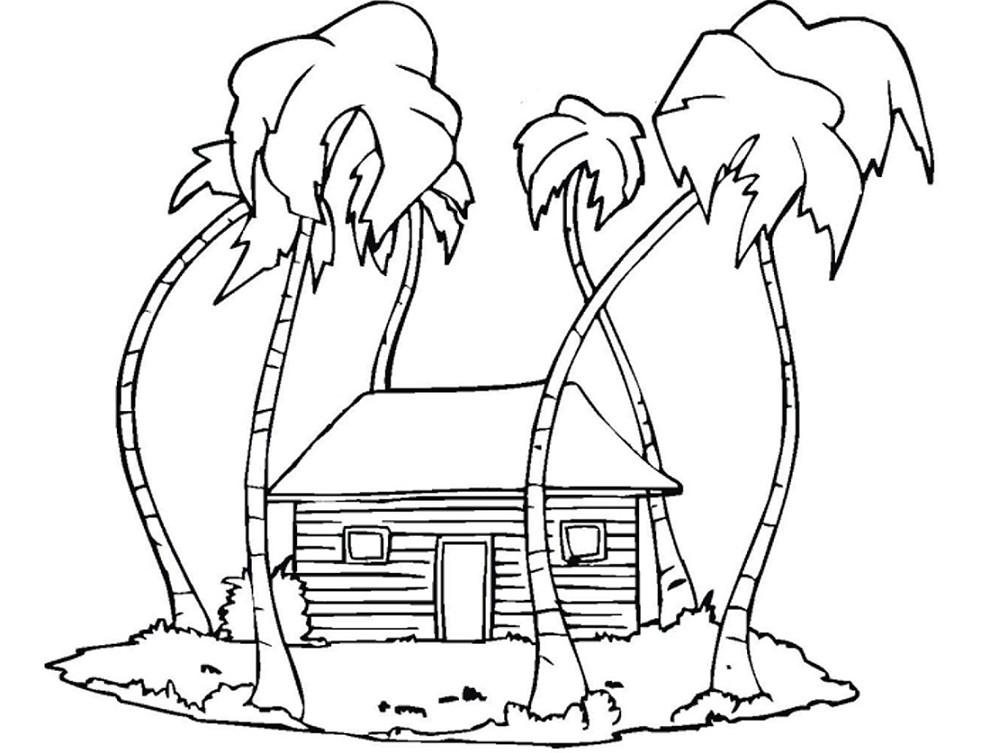 Gambar Mewarnai Pemandangan Rumah Terbaru