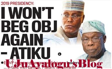 2019: NEVER Again Will I Beg Obasanjo - Atiku, ...In Talks To Emerge PDP Consensus Candidate