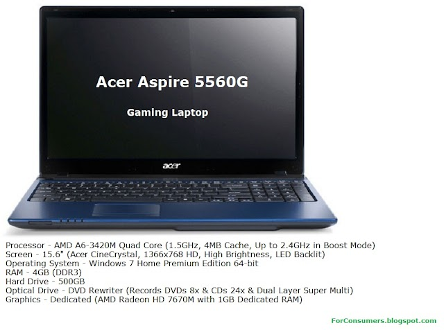 Acer Aspire 5560G laptop review