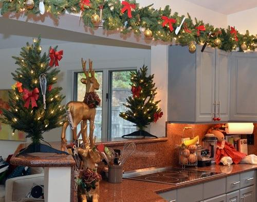 top of kitchen cabinet christmas decorating ideas and above breakfast bar christmas decoration ideas gallery