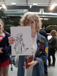 Tom Baker Comicon Sketch by Russell Payne