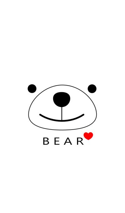 SIMPLE BEAR(white)