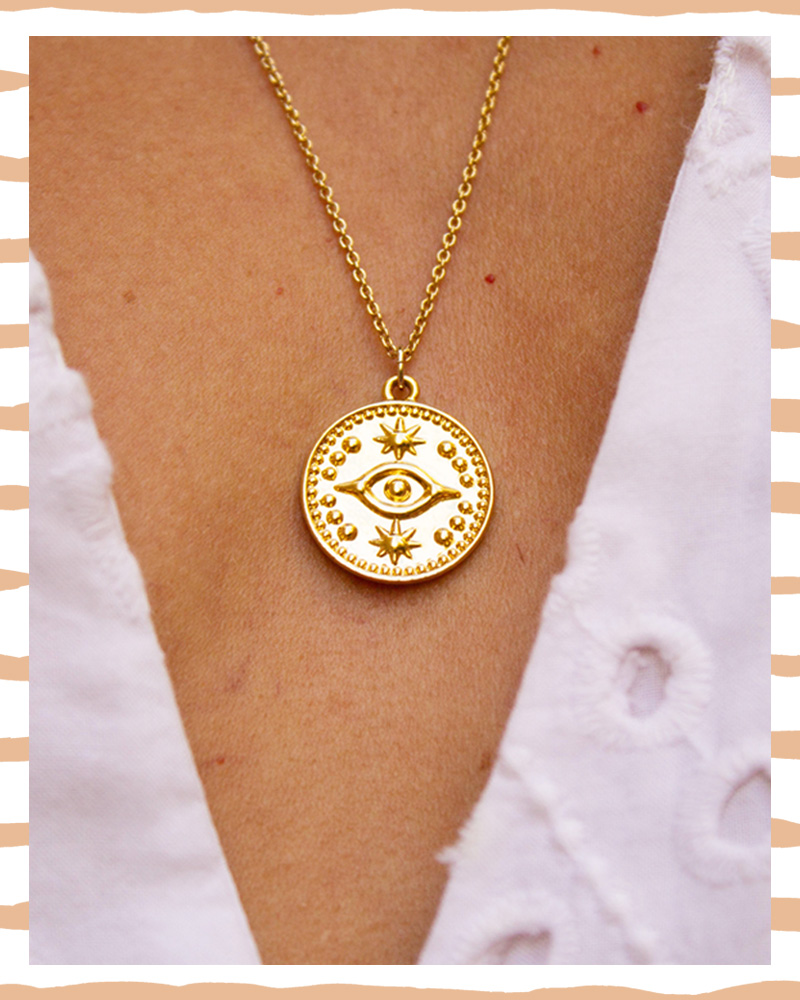 pico the store, pico jewellery, nazar, evil eye, hand of fatima, necklace, handmade, artisan, gold plated, gift idea