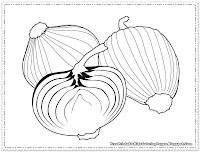 Onions Coloring Pages
