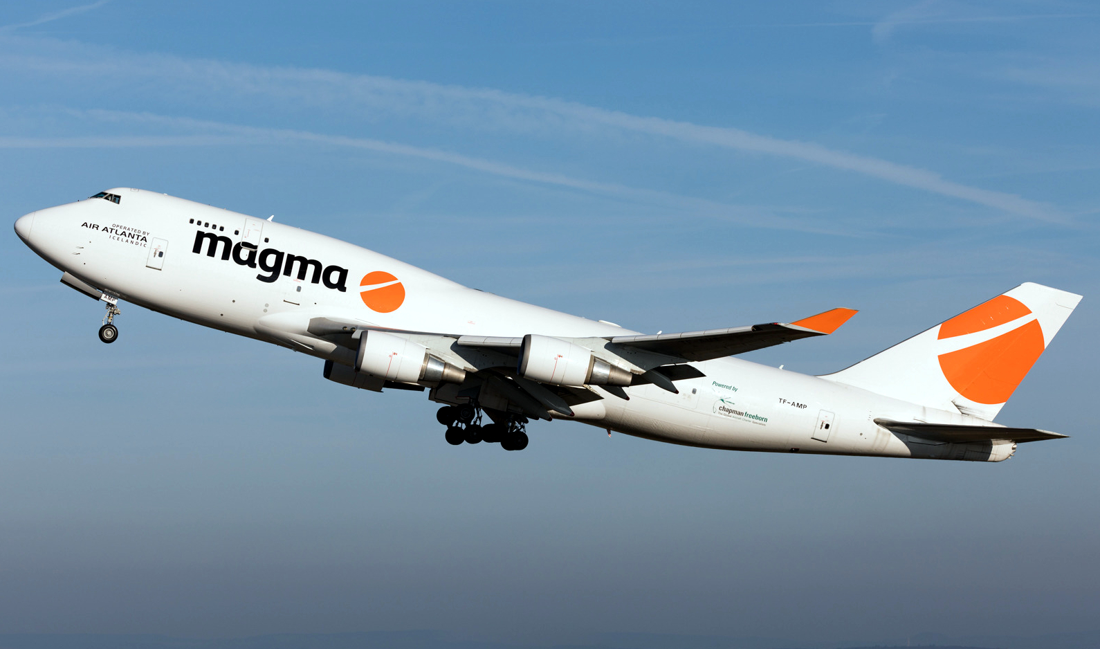 Magma Aviation Boeing 747-400 Freighter Climbing Off