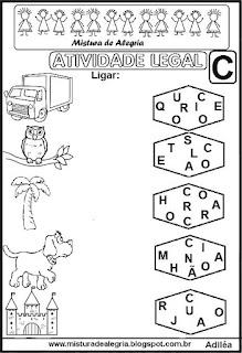 Atividades com letras embaralhadas