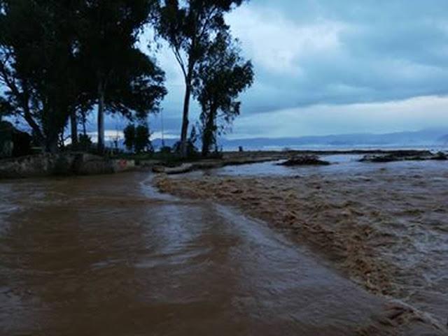 Αργολίδα: Λαχτάρισαν οι κάτοικοι του Κιβερίου από την σφοδρή κακοκαιρία  (βίντεο)