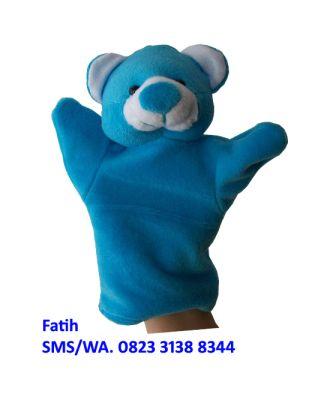 Boneka Tangan Dari Kain Flanel Karakter Binatang Beruang