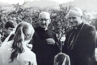 Krościenko. Ksiądz Józef Blachnicki i kardynał Karol Wojtyła.