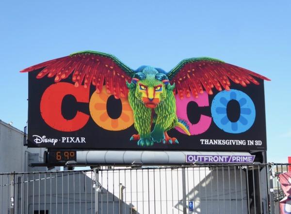 Coco movie Pepita cut-out billboard