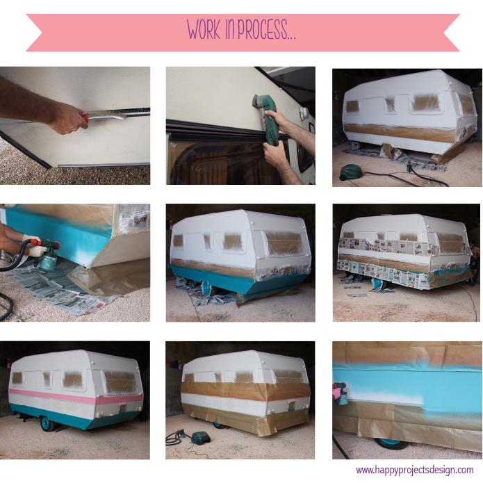 pintando la happy caravan