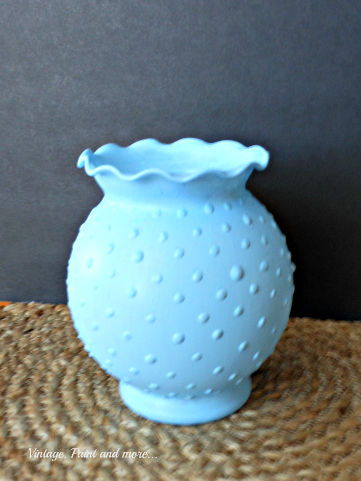 Diy Blue Hobnail Glass Vintage Paint And More