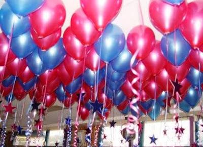 Dekorasi balon gas ulang tahun