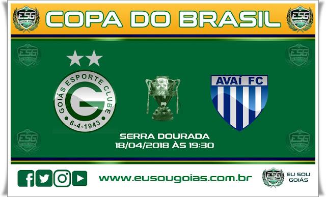 Ingressos para Goiás x Avaí - SC jogo de volta pela Copa do Brasil 2018