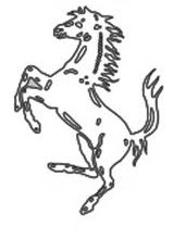 Ferrari Horse Outline