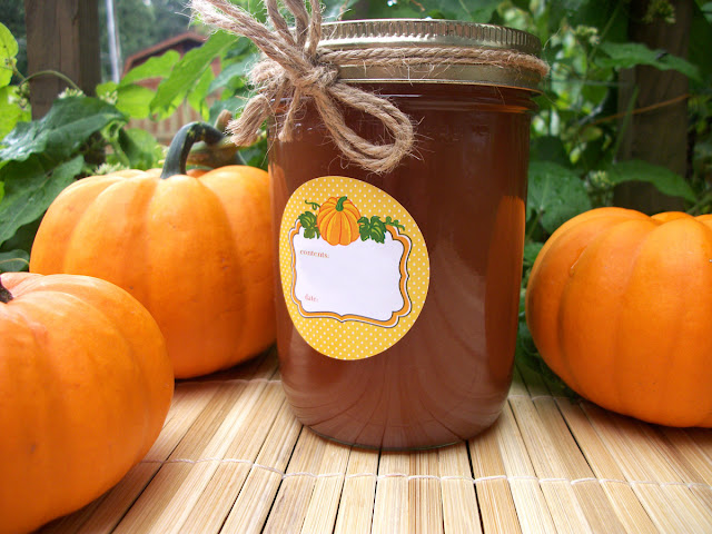 pumpkin canning jar label