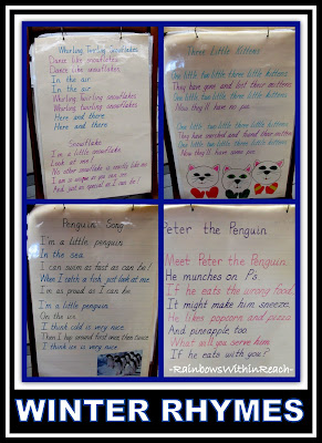 photo of: Winter Rhymes and Anchor Charts via RainbowsWithinReach