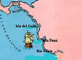 Los viajes de Pizarro en la conquista del Perú