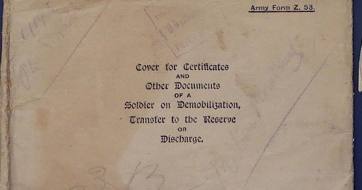 Army Forms & Attestations: Army Form Z.53 - Cover