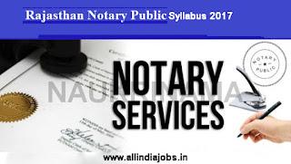 Rajasthan Notary Public Syllabus
