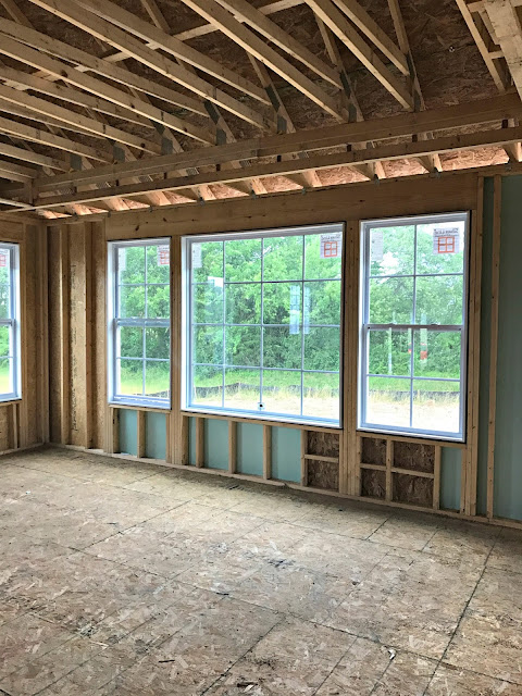Lots of windows in master bedroom