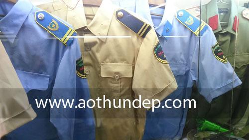 Áo đồng phục bảo vệ màu xanh màu vàng, màu xám, màu trắng