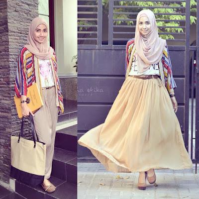 fashion untuk wanita kurus terbaru