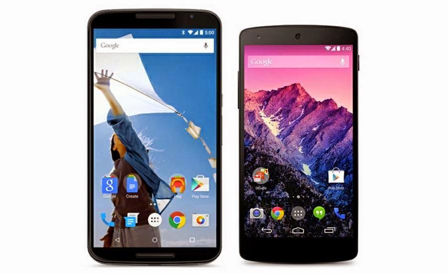 Nexus 5 y Nexus 6