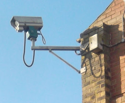 CCTV camera in Brigg town centre - picture on Nigel Fisher's Brigg Blog