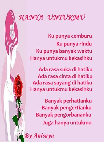 Puisi Cinta By Anisayu Hanya Untukmu